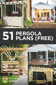 5 Ft Patio Swing With Cedar Pergola Create by 51 Diy Pergola Plans U0026 Ideas You Can Build In Your Garden Free