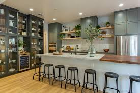 rustic kitchen cabinets with glass doors rustic neutral kitchen featuring green cabinets with glass