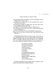 Poetry Submission Cover Letter Seven Books By Eight Poets By A R Ammons The Dark Flags Of