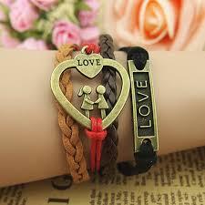 leather bracelet girl images Lovers bracelet boy and girl bracelet braid leather bracelet 37848