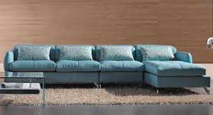 Blue Leather Sofa by Modern Sectional Sofa Light Blue Color Sofa Bed Sectionals