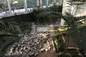 is downtown la u0027s pretty wells fargo center atrium being demolished