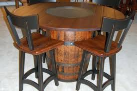 whiskey barrel bar table whiskey barrel table bikepool co