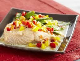 cuisiner pois gourmand saumon poché aux pois gourmands maggi