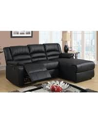 Small Reclining Sofa Get The Deal Modern Bonded Leather Small Space Sectional