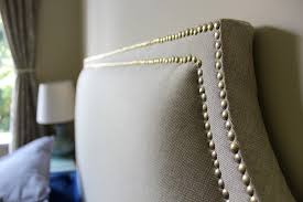 How To Make Your Own Fabric Headboard by Diy Fabric Headboard With Nailhead Trim 25508