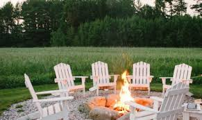 Outdoor Sitting Area Outdoor Seating Area With Gravel And A Fire Pit From Style Me