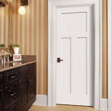 jeld wen craftsman smooth 3 panel primed molded prehung 3 panel interior doors home depot vcf photography com