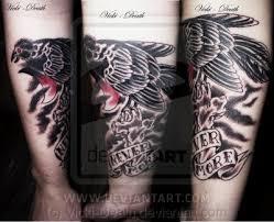 fashion female and store raven tattoo