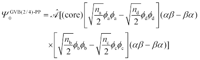 using the gvb ansatz to develop ensemble dft method for describing