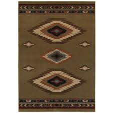 Aztec Area Rug Home Decorators Collection Aztec Green 9 Ft 6 In X 12 Ft 2 In