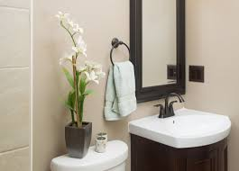 contemporary guest bathroom design ideas come with large mirror