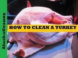 how to clean a turkey