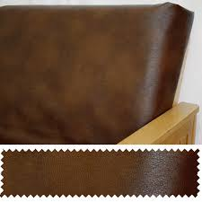 Leather Sofa Cushion Faux Leather Brown Zippered Cushion Cover