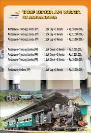 Tiket Kereta Api Paket Sewa Dan Harga Tiket Kereta Api Wisata Ambarawa Travel