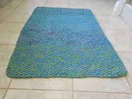 Square Bathroom Rug Bathroom Square Blue Foam Bath Mats On Brown Tile Floor Design