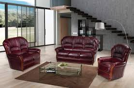 sara full leather leather classic 3 pcs sets living room furniture