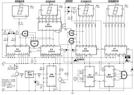 membuat jam digital led besar rangkaian jam digital led dengan bel skemaku com