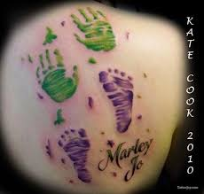 21 best handprint and footprint tattoos images on pinterest