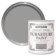 rust oleum rust oleum winter grey chalky matt furniture paint 125