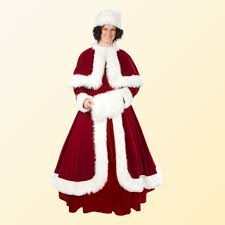 mrs claus costumes halco regal velvet mrs claus costume santa co llc