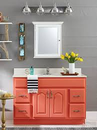 Painting Bathroom Vanity Ideas Best 25 Orange Bathrooms Ideas On Pinterest Orange Bathroom