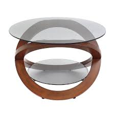 Walnut And Glass Coffee Table Shop Lumisource Linx Walnut Glass Coffee Table At Lowes