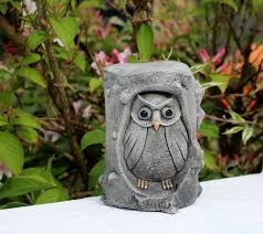 owl in a tree owl lawn decor garden ornament made in