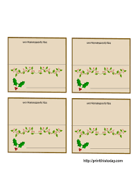 free printable christmas place cards in christmas table name cards