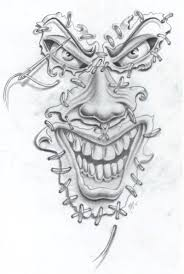 smiling jester joker tattoo design photo 2 2017 real photo