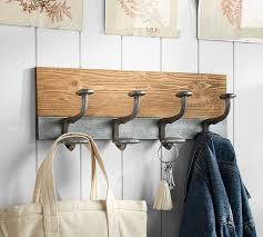 Pottery Barn Shelf With Hooks Antique Aluminum Row Of Hooks Pottery Barn