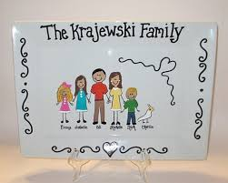 personalized ceramic platters personalized family platter