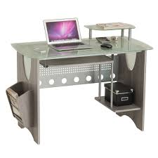 techni mobili double pedestal laminate computer desk chocolate techni mobili computer desk with ample storage