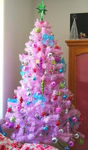 decoration green shaped atop feat pink artificial tree plus