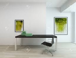 contemporary minimal interior an office or a residential study