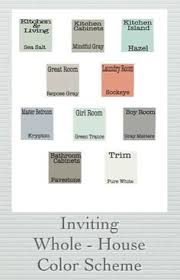 color schemes for homes interior sherwin williams whole house color palette search pinteres