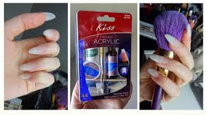 kiss acrylic nail kit demo tutorial youtube