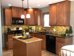 oak cabinets kitchen ideas granite countertops with oak cabinets alhenaing me