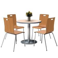 36 round cafe table kfi seating silver base cafe 36 round table with four jive stack