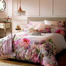 create a peaceful ambience with this pure peony duvet cover from