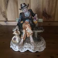 Capodimonte Tramp On A Bench Capodimonte Figurines Collectors Weekly