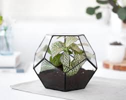 modern hanging planter mid century plant stand geometric