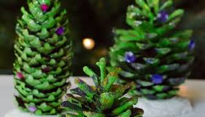 Decorating Pine Cones With Glitter Homemade Christmas Decorations Pom Pom Pine Cones Growing Family