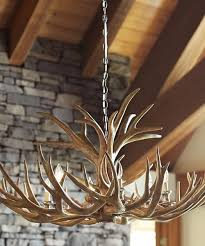 Antler Chandelier Canada Lodge Western Rustic Log Cabin Lighting Collections