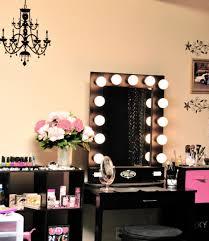 Small Corner Bedroom Vanity With Drawers Makeup Vanity Small Black Makeupy With Lights In The Corner Jpg