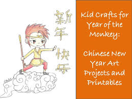 kid crafts for year of the monkey chinese new year art projects