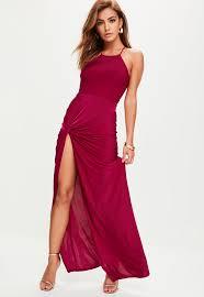 purple slinky maxi dress missguided