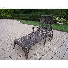 Oakland Patio Furniture Amazon Com Oakland Living Mississippi Cast Aluminum Chaise Lounge