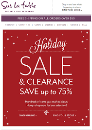 Sur La Table Coupon Code Sur La Table Holiday Sale U0026 Clearance Up To 75 Off Red And