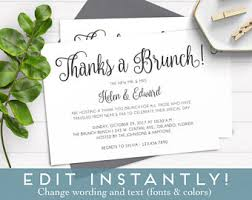 after wedding brunch invitation wording brunch invitation etsy
